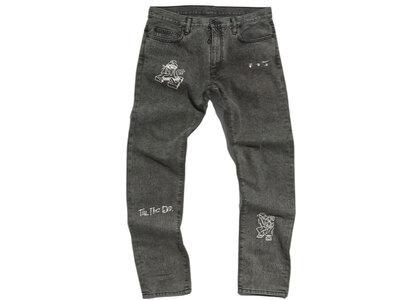 END. × Off-White Bandit Slim Jeans Black / Whiteの写真