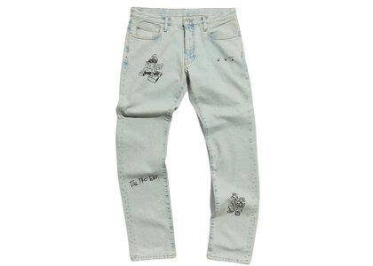 END. × Off-White Bandit Slim Jeans Light Blue / Blackの写真