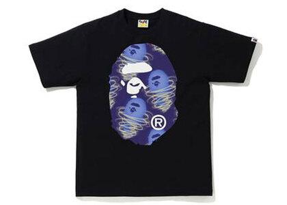 Bape Storm Big Ape Head Tee Black × Purple (SS21)の写真