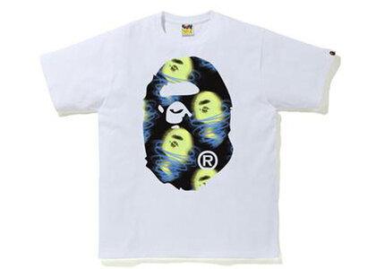 Bape Storm Big Ape Head Tee White × Black (SS21)の写真