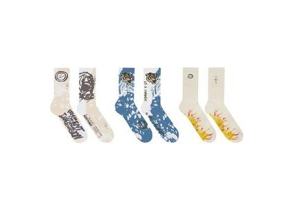 Cactus Jack For Fragment 3 Pack Socks Whiteの写真