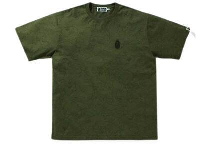 Bape Line 1st Camo Washed Relaxed Fit Tee Olive Drab (SS21)の写真