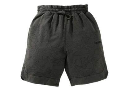 Bape Line 1st Camo Washed Sweat Wide Fit Basketball Shorts Black (SS21)の写真