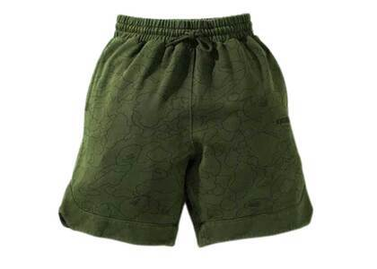 Bape Line 1st Camo Washed Sweat Wide Fit Basketball Shorts Olive Drab (SS21)の写真