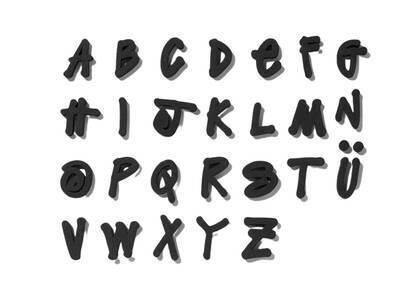 Stussy Alphabet Magnets Black (SS21)の写真