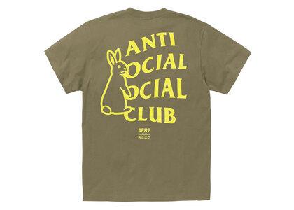 Anti Social Social Club collaboration with #FR2 Rabbit Icon T-shirt Brownの写真