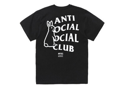 Anti Social Social Club collaboration with #FR2 Rabbit Icon T-shirt Blackの写真