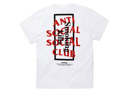 Anti Social Social Club collaboration with #FR2 Smoking kills T-shirt Whiteの写真