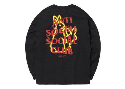 Anti Social Social Club collaboration with #FR2 Fire pattern Longsleeve T-shirt Blackの写真