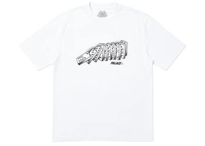 Palace Domino T-Shirt White  (FW19)の写真