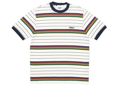 Palace Mershy-Pea Striped T-Shirt White  (FW19)の写真