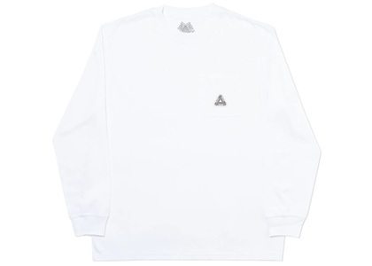Palace Sofar Pocket Longsleeve White  (FW19)の写真