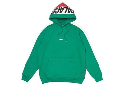 Palace Catch Up Hood Green/White  (FW19)の写真