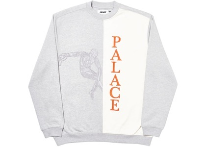 Palace Discuss Crew Grey Marl  (FW19)の写真