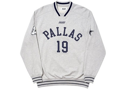 Palace Pallas Crew Grey Marl  (FW19)の写真