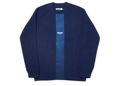 Palace R-Knit Sweatshirt Blue  (FW19)の写真
