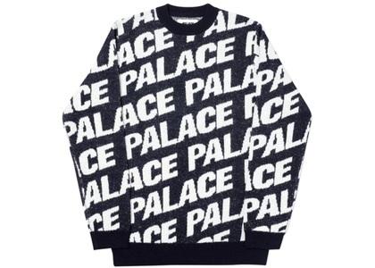 Palace Toner Knit Navy  (FW19)の写真