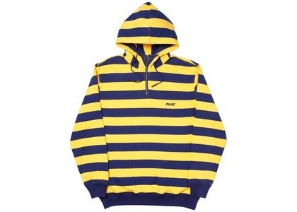 Palace Tri-Stripe-Zip Hood Yellow/Navy  (FW19)の写真