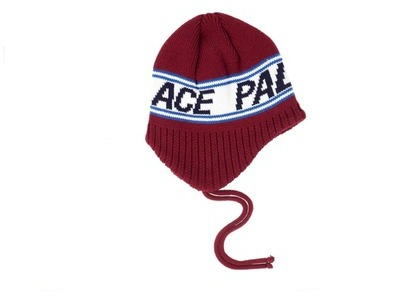 Palace Flap About Beanie Burgundy  (FW19)の写真