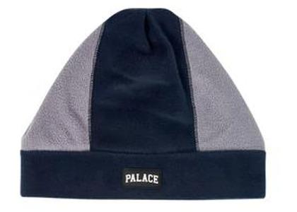 Palace Pal Fleece Beanie Navy/Grey  (FW19)の写真