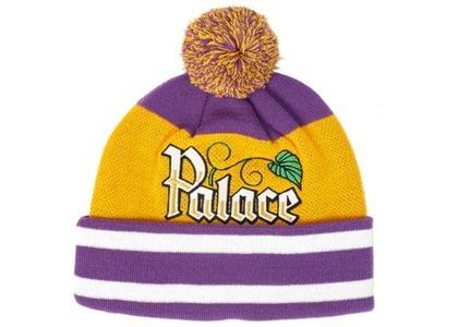 Palace Zero Zero Beanie Purple/Yellow  (FW19)の写真