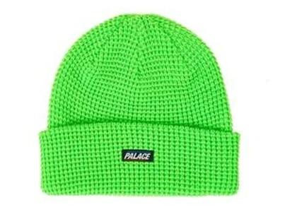 Palace R-Knit Beanie Neon Green  (FW19)の写真