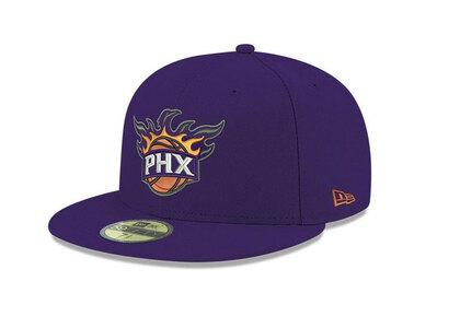 New Era 59FIFTY 2021 NBA Finals Side Patch Phoenix Suns Purpleの写真