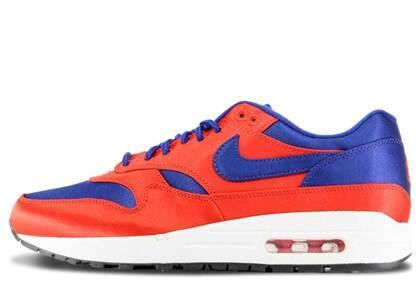 Nike Air Max 1 Satin University Red Deep Royal Blueの写真