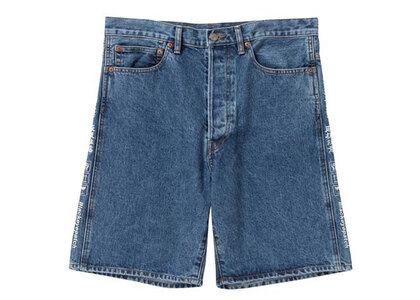 The Black Eye Patch Handle With Care Denim Shorts Blue (SS21)の写真