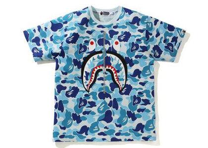 Bape Big ABC Camo Shark Tee Blue (SS21)の写真
