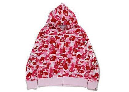 Bape Big ABC Camo Bape Relaxed Fit Full Zip Hoodie Pink (SS21)の写真