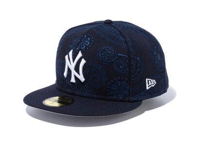 New Era 59FIFTY SWIRL New York Yankees Gray Under Visor Navyの写真