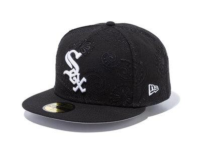 New Era 59FIFTY SWIRL Chicago White Sox Gray Under Visor Blackの写真