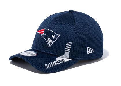 New Era 39THIRTY 2021 NFL Sideline Sideline New England Patriots Navyの写真