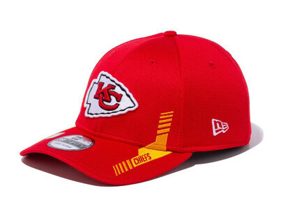 New Era 39THIRTY 2021 NFL Sideline Sideline Kansas City Chiefs Redの写真