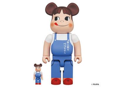 Be@rbrick Peko-chan The overalls girl 100% & 400%の写真