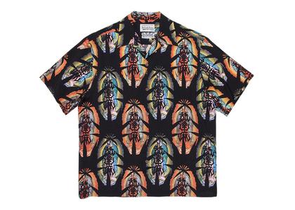 舐達麻 × WACKO MARIA Aloha Shirt Marijuana Blackの写真