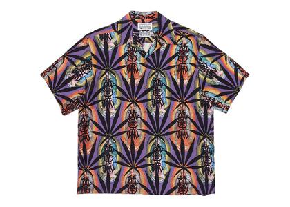 舐達麻 × WACKO MARIA Aloha Shirt Marijuana Purpleの写真