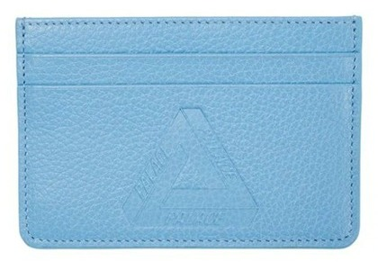 Palace Leather Card Holder Blue FW21の写真
