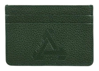 Palace Leather Card Holder Green FW21の写真