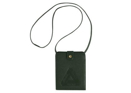 Palace Leather Hanging Wallet Green FW21の写真