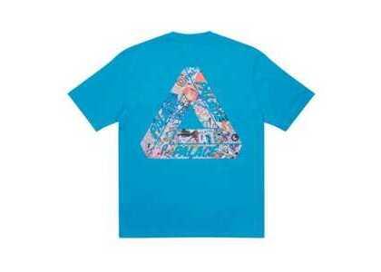 Palace Tri-Sticker Pack T-Shirt Petrol Blue FW21の写真