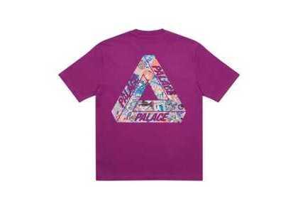 Palace Tri-Sticker Pack T-Shirt Plum FW21の写真