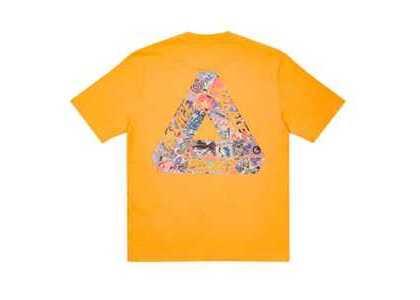Palace Tri-Sticker Pack T-Shirt Light Orange FW21の写真