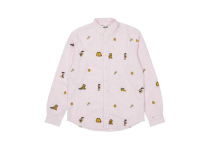 Palace Garfield Boojie Shirt Pink/White FW21の写真
