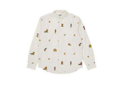 Palace Garfield Boojie Shirt Beige/White FW21の写真