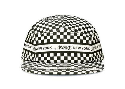 Awake NY Checkered Logo 5 Panel Cap Blackの写真