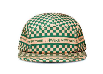 Awake NY Checkered Logo 5 Panel Cap Khakiの写真