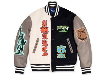 Awake NY Chenille Patches Varsity Jacket Navy Comboの写真