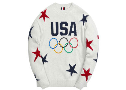 Kith for Team USA Intarsia Sweater Light Greyの写真